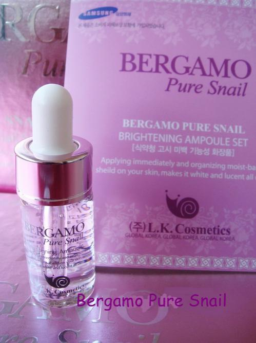 **�������Bergamo The Luxury Skin Science Pure Snail Whitening Ampoule (1�Ǵ) �����������ٵþ���� ����˹�ҡ�Ш�ҧ�� Ŵ���͹�ش��ҧ�� ���ᴧ�ҡ��� ������ǹ����ͧ���ʡѴ�ҡ���͡��·ҡ ����ռ���������� ��鹿������Ƿ��������¨ҡ������Ǵ������ҧ �